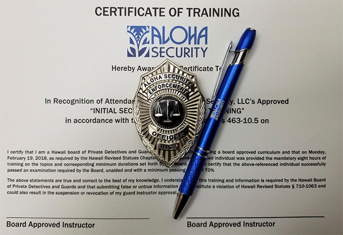 Join Hawaii's Most Respected Protective Service